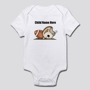 Personalized Football Baby Bodysuit