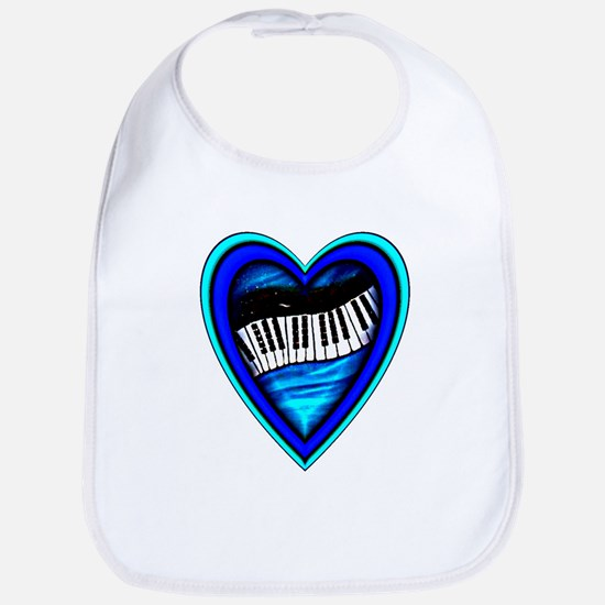 Piano Heart Bib