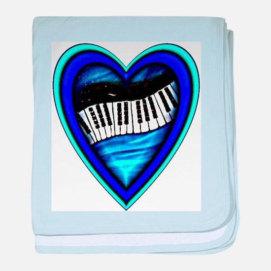 Piano Heart baby blanket