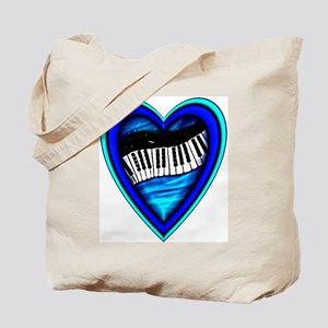 Piano Heart Tote Bag