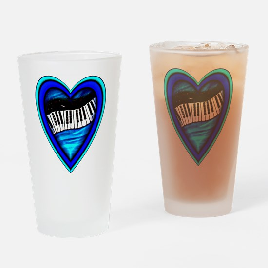 Piano Heart Drinking Glass