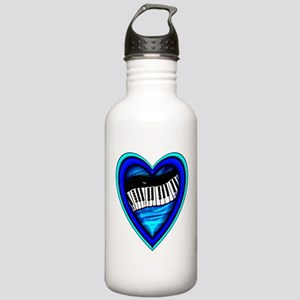 Piano Heart Stainless Water Bottle 1.0L