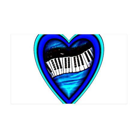 Piano Heart 35x21 Wall Decal
