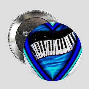 """Piano Heart 2.25"""" Button"""