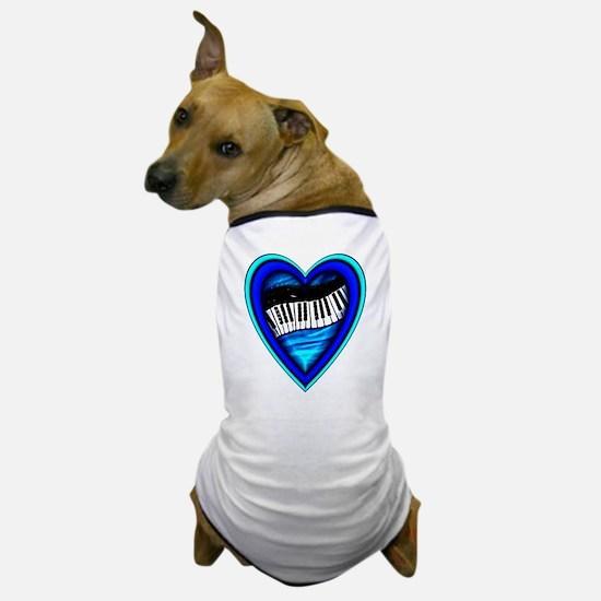 Piano Heart Dog T-Shirt