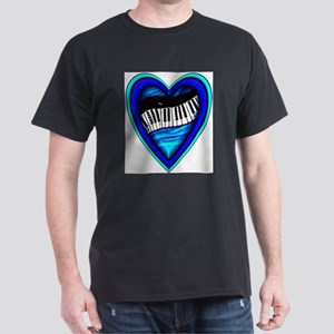 Piano Heart Dark T-Shirt