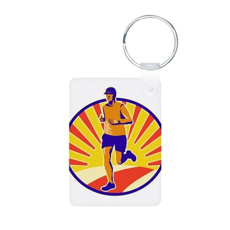 Marathon Runner Athlete Running Aluminum Photo Key