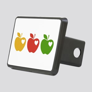 Apple Hearts Love to Teach Rectangular Hitch Cover