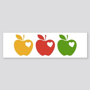 Apple Hearts Love to Teach Sticker (Bumper)
