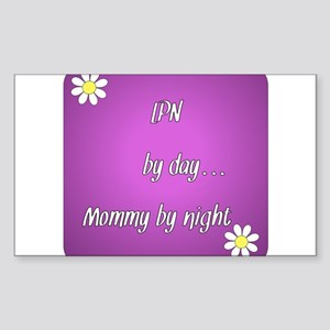 LPN by day Mommy by night Sticker (Rectangle)