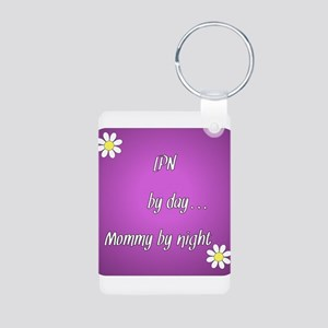 LPN by day Mommy by night Aluminum Photo Keychain