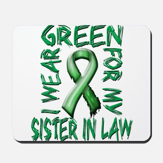 I Wear Green for my Sister in Law.png Mousepad