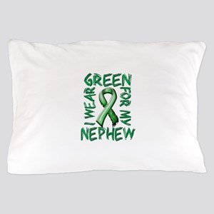 I Wear Green for my Nephew.png Pillow Case