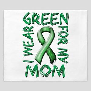 I Wear Green for my Mom King Duvet