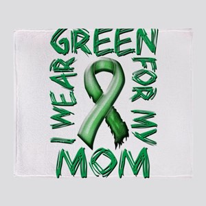 I Wear Green for my Mom Throw Blanket