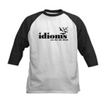 Idioms Are For The Birds Kids Baseball Jersey