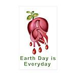Earthday is Everyday Sticker (Rectangle 50 pk)