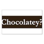 Chocolatey? Sticker (Rectangle 50 pk)