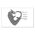 armadillo Sticker (Rectangle 50 pk)