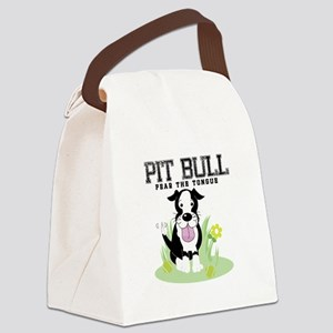 Pit Bull Fear the Tongue Canvas Lunch Bag