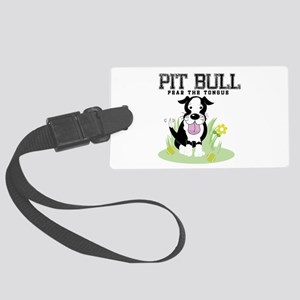 Pit Bull Fear the Tongue Large Luggage Tag