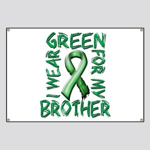 I Wear Green for my Brother Banner