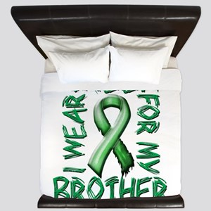 I Wear Green for my Brother King Duvet