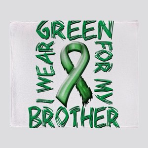 I Wear Green for my Brother Throw Blanket