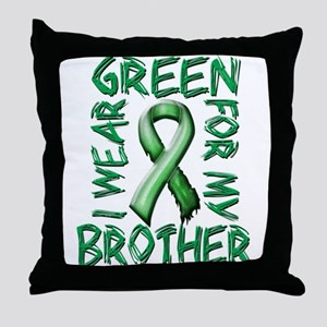 I Wear Green for my Brother Throw Pillow