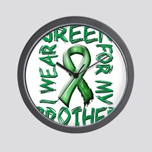I Wear Green for my Brother Wall Clock