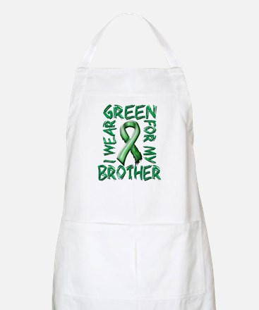 I Wear Green for my Brother.png Apron