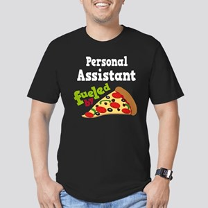 Personal Assistant Pizza Men's Fitted T-Shirt (dar