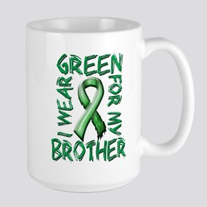 I Wear Green for my Brother Large Mug