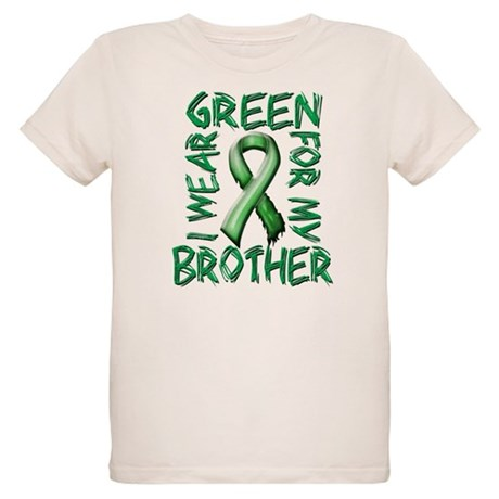 I Wear Green for my Brother Organic Kids T-Shi