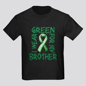 I Wear Green for my Brother.png Kids Dark T-Shirt