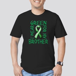 I Wear Green for my Brother Men's Fitted T-Shi