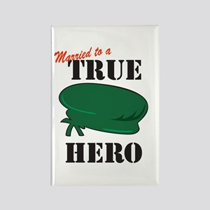 Married to a Green Beret Hero Rectangle Magnet