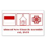 almont _logo Sticker (Rectangle 50 pk)