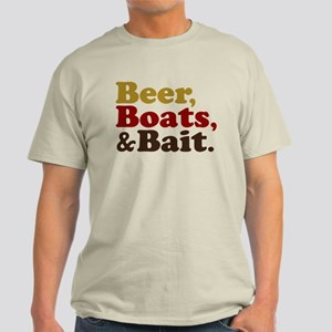 Beer Boats and Bait Fishing Light T-Shirt