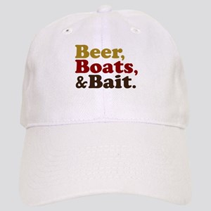 Beer Boats and Bait Fishing Cap