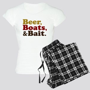 Beer Boats and Bait Fishing Women's Light Pajamas