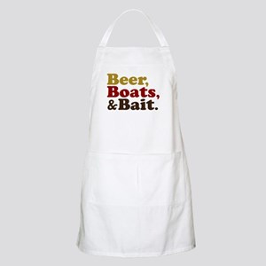 Beer Boats and Bait Fishing Apron