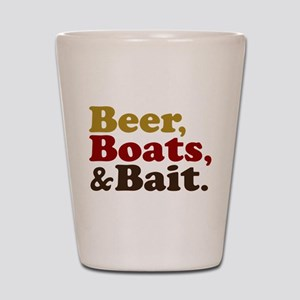 Beer Boats and Bait Fishing Shot Glass