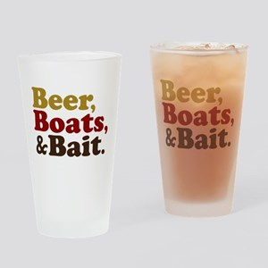 Beer Boats and Bait Fishing Drinking Glass
