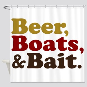 Beer Boats and Bait Fishing Shower Curtain