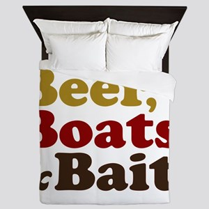 Beer Boats and Bait Fishing Queen Duvet