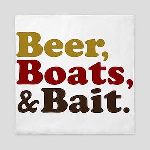 Beer Boats and Bait Fishing Queen Duvet