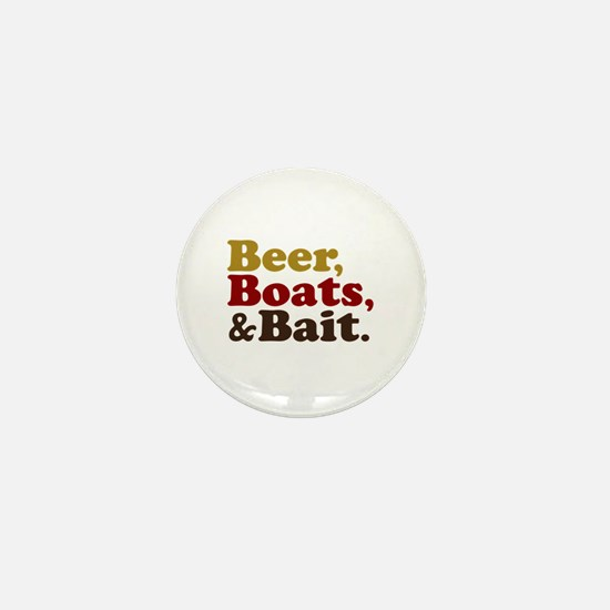 Beer Boats and Bait Fishing Mini Button