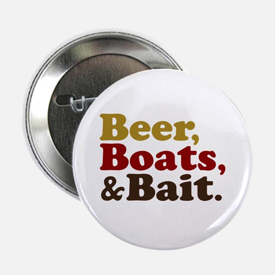 """Beer Boats and Bait Fishing 2.25"""" Button"""