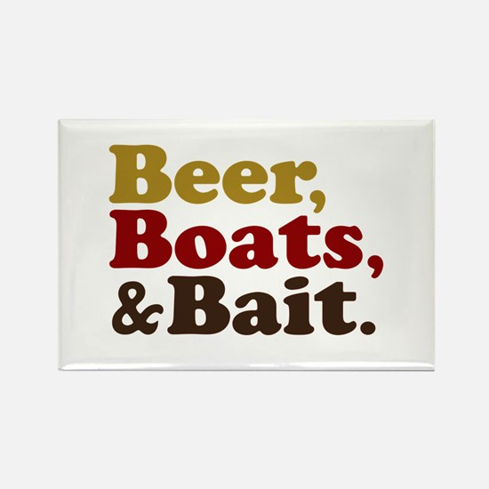 Beer Boats and Bait Fishing Rectangle Magnet